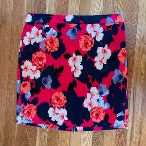 Jcrew flowered pencil skirt size 12P